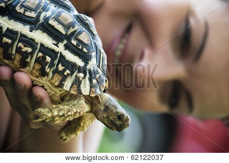 Turtle And Woman