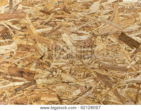 an empty poster stand made of pressed wood shavings. copy space and background
