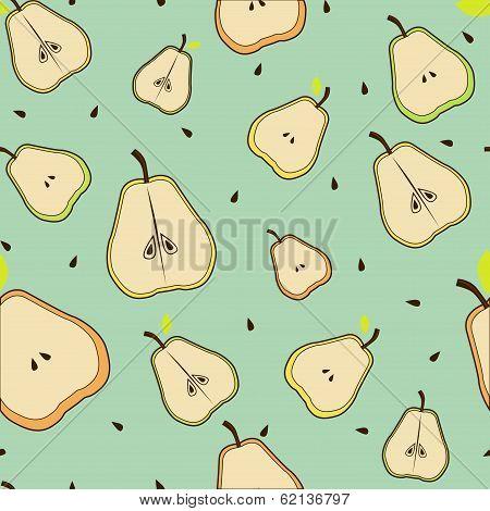 Pear beautiful seamless background