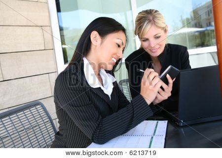 Attractive Business Woman Working