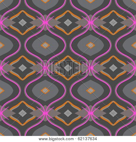 Arabic pattern in grey and pink