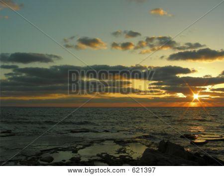 den Sonnenuntergang