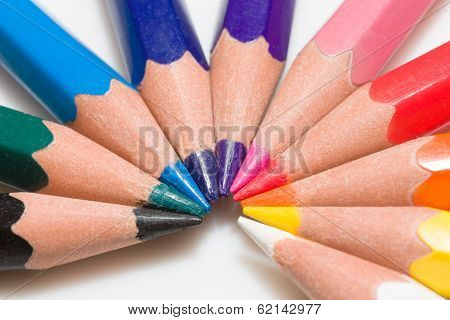 Rainbow Of Colorful Pencil Set With 10 Colors