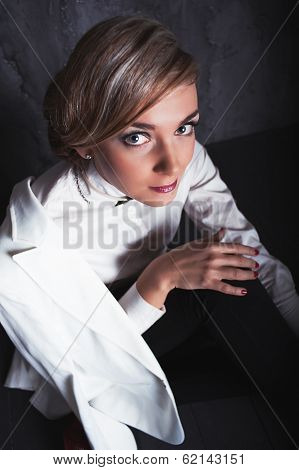 Portrait Of Beautiful Sexy Fashion Girl