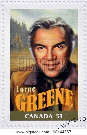 CANADA - CIRCA 2006: A stamp printed in Canada shows Lorne Greene