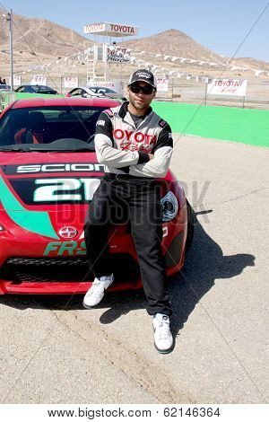 LOS ANGELES - MAR 15:  Corbin Bleu at the Toyota Grand Prix of Long Beach Pro-Celebrity Race Training at Willow Springs International Speedway on March 15, 2014 in Rosamond, CA