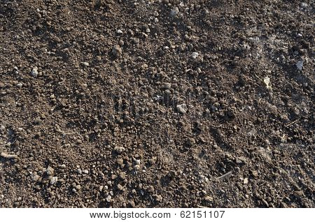 Close up of organic soil surface background