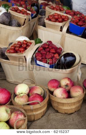 Fruits And Vegetable Baskets