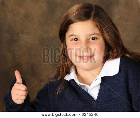 Thumbs Up Preteen