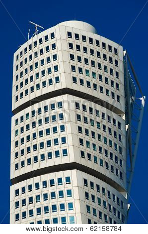 Turning Torso Skyscraper In Malmo, Sweden