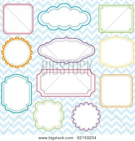 Colorful Frames Design Set - Illustration