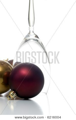 Christmas ornament with champagne glass