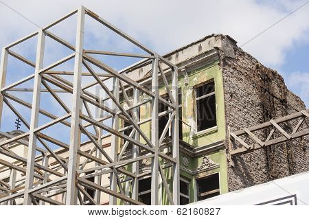 Old Abandoned Building Being Renovated