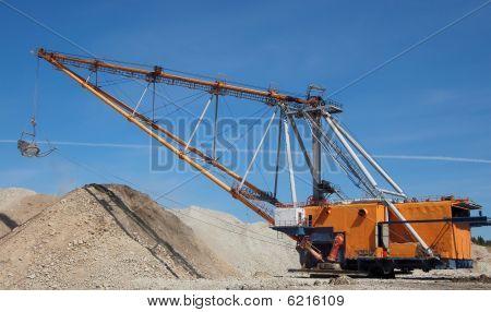 Abierto minería del molde
