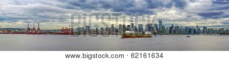 Port Of Vancouver Bc Panorama