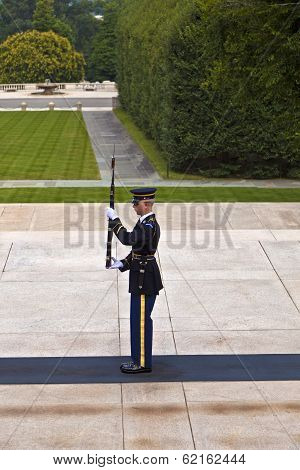 Changing The Guard At Arlington National Cemetery In Washington