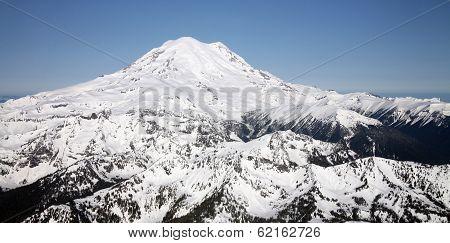 Aerial View of Mt Rainier