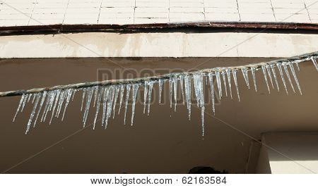 Lots Of Melting Icicles