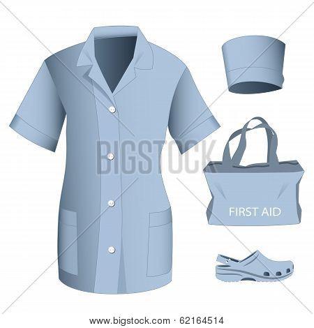 Woman Medical Clothes Set