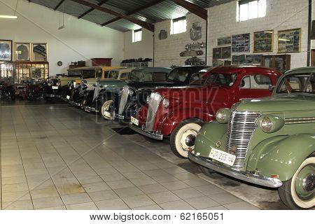 Display Room With Vintage Chevrolet Motorcars