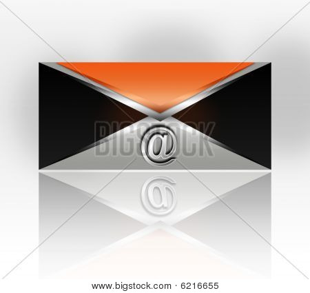 metal mail icon