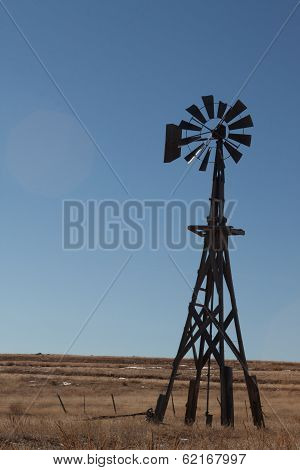 Windmill on prairie