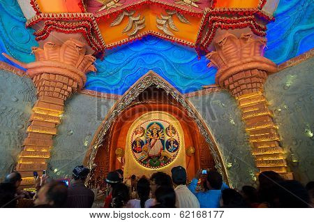Kolkata , India - October 13, 2013 : Durga Puja Festival