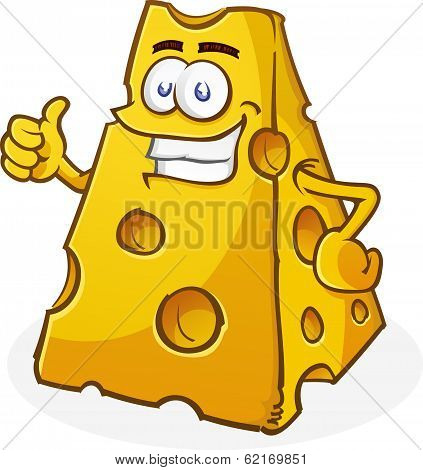 Cheese Cartoon Character Thumbs Up