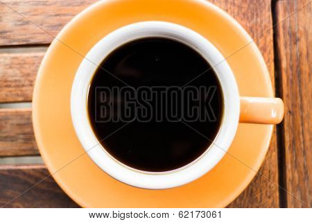 Closeup Cup Of Hot Americano