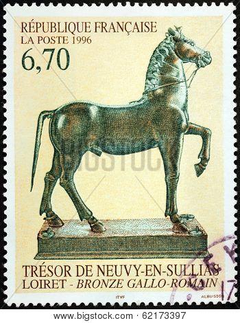 Bronze Statue Stamp