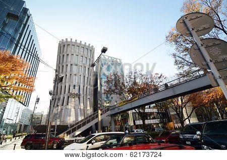 Tokyo - Nov 24: Futuristic Architecture On Omotesando Street