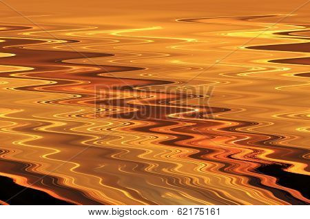 Beautiful Color Golden Ripples - Background and Screensaver Patterns