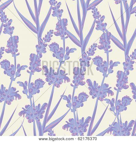 Lavender Seamless Pattern.