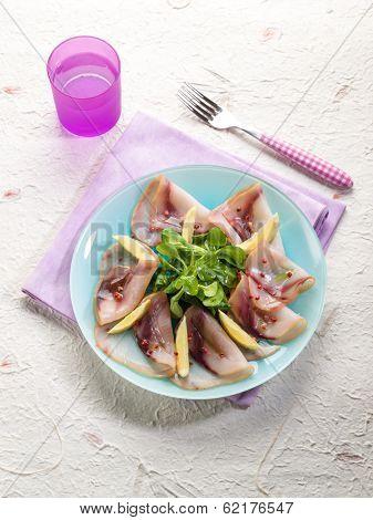 carpaccio swordfish marinated