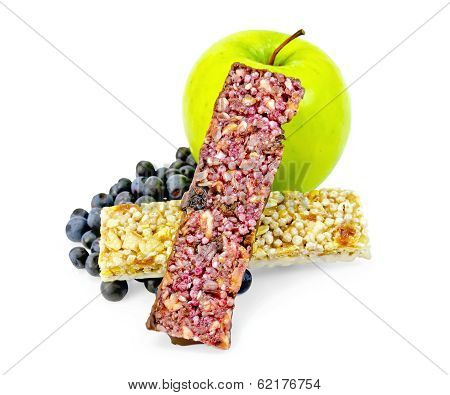 Granola Bar Two With Blueberries And Apple