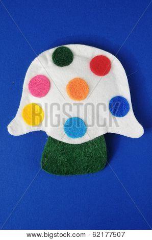 Cloth Multicolored Mushroom