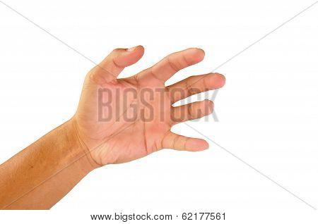 Well Shaped Men Hand Reaching