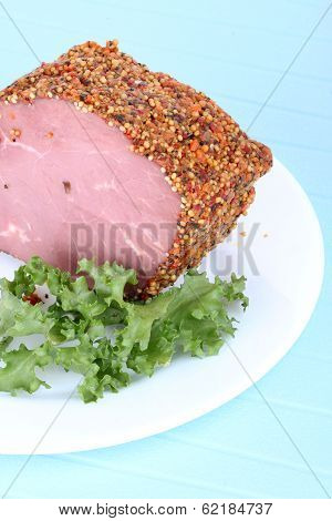 Bloated Beef On White Plate