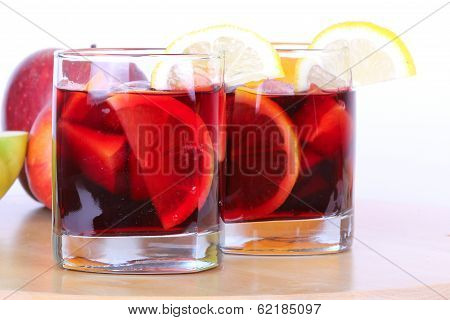 Sangria In Glasses