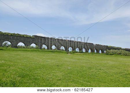Stone Arches Of Ancient Roman Aqueduct
