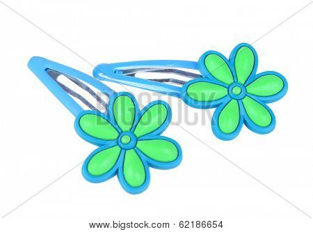 Colorful barrette isolated on white