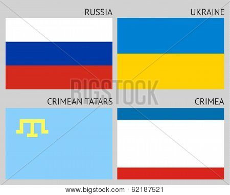 Flags of the Crimean peninsula