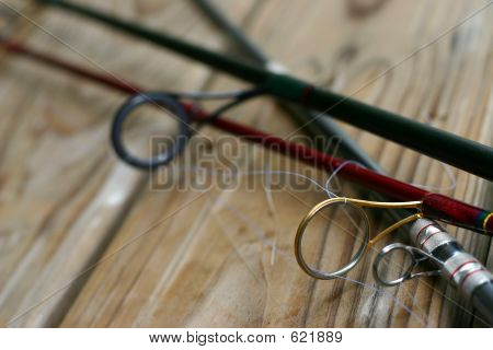 Close-up Fishing Rods