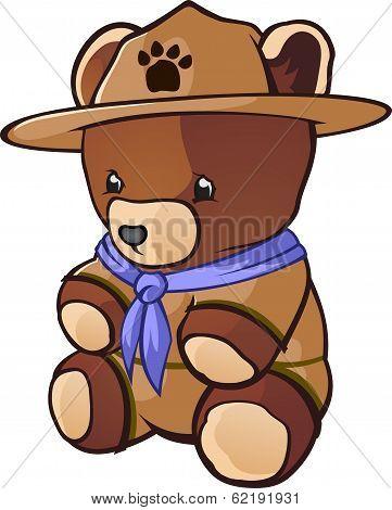 Teddy Bear Cub Scout Cartoon Character