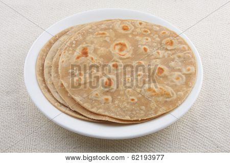 Homemade wheat flour Chapati.