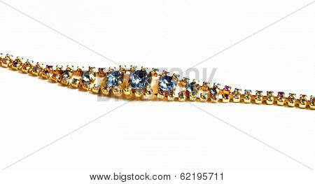 A Bracelet With Coloured Stones