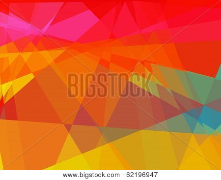 Abstract colored cubism background