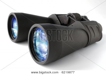 Black Binocular On White, Clipping Path.