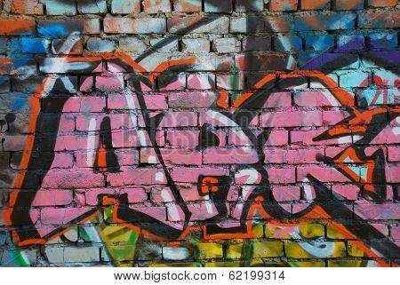 Graffiti On The Brickwall