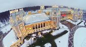picture of winter palace  - Illuminated Tsaritsyno Palace at winter evening in Moscow - JPG